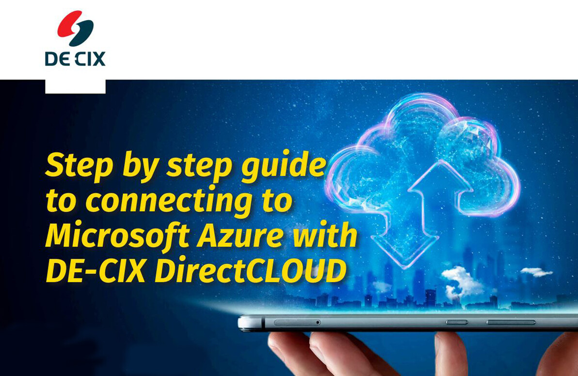 Step by step guide to connecting to Microsoft Azure with DE-CIX DirectCLOUD cover