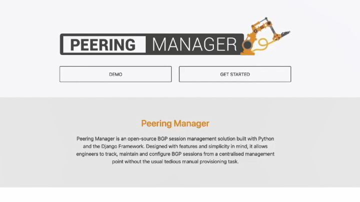 Peering Manager video screen