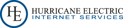 Provider logo for Hurricane Electric