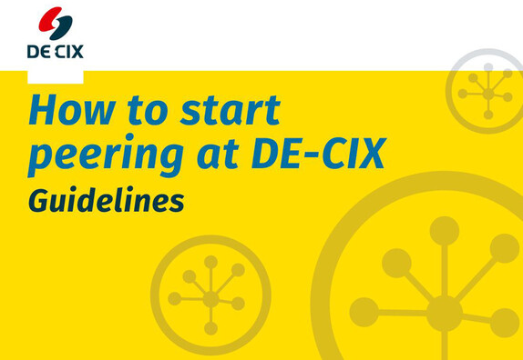 How to start peering at DE-CIX cover