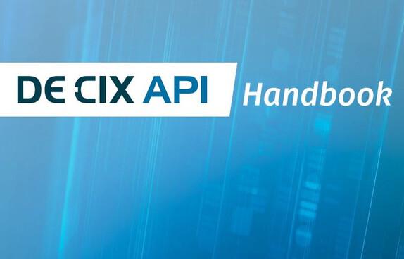 DE-CIX API handbook cover image