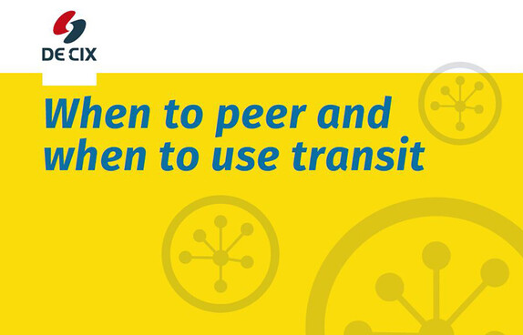 When to peer and when to use transit cover