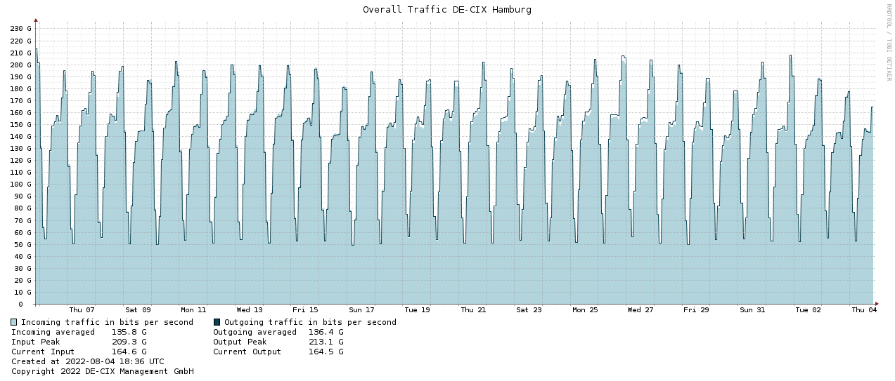 Traffic graph HAM-1month